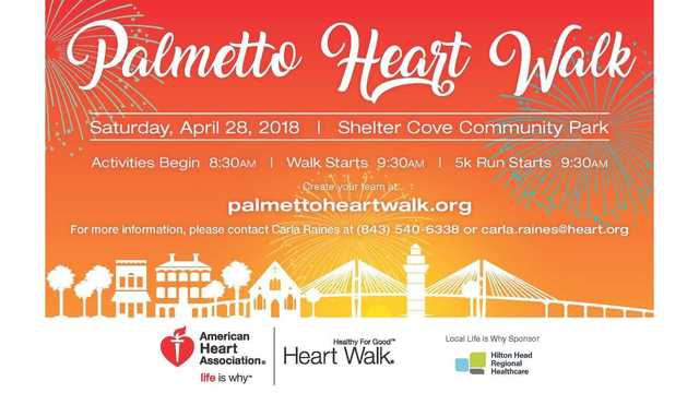 Lace up for the Palmetto Heart Walk