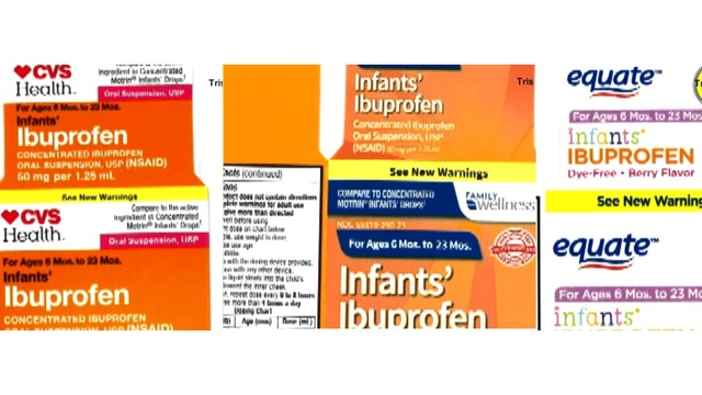 Recall ordered for infant liquid ibuprofen sold at Walmart, CVS, Family Dollar Stores