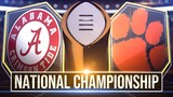 Alabama vs. Clemson in CFP National Championship