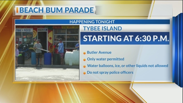 Get ready to be soaked! Tybee's Beach Bum Parade returns on Friday