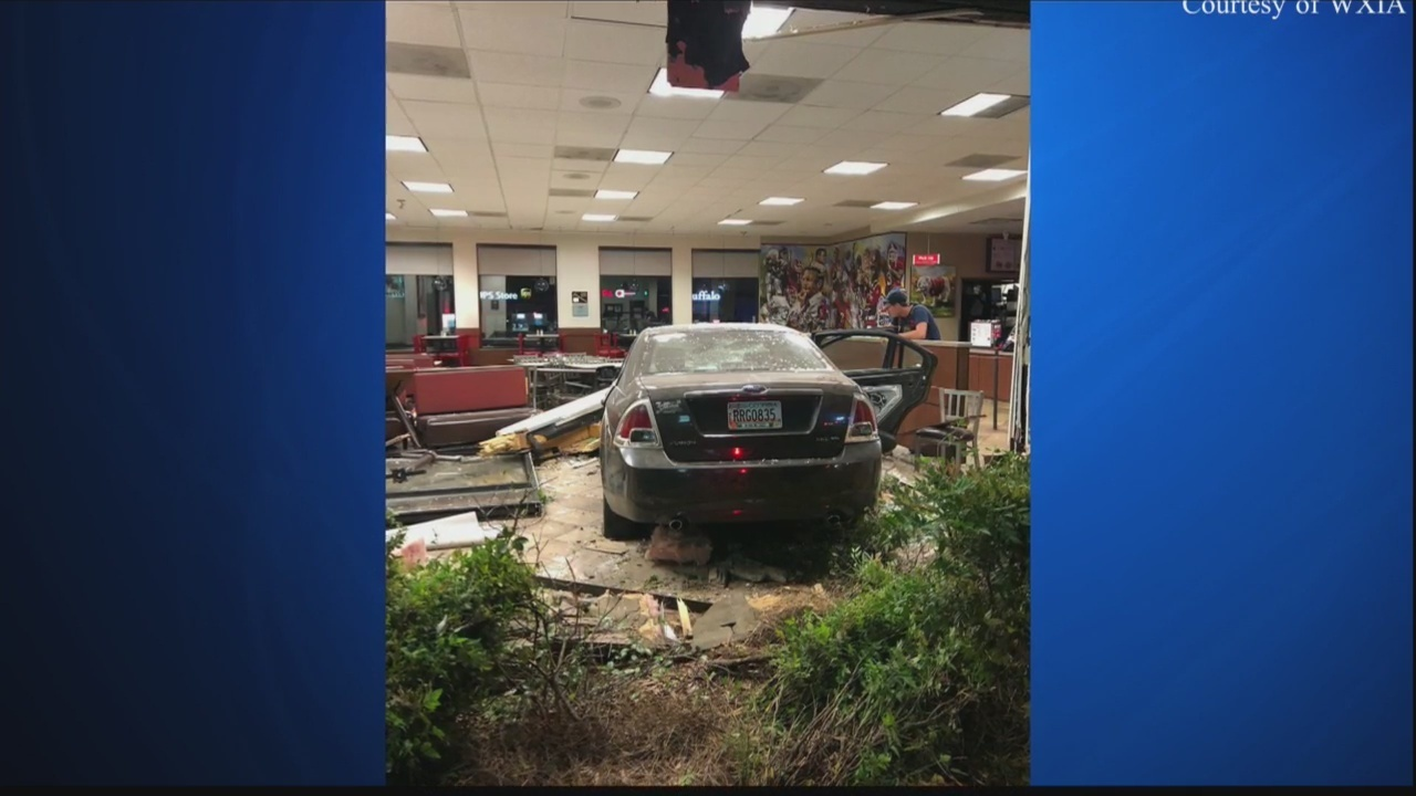 . Teen drives car through Athens Chick fil A