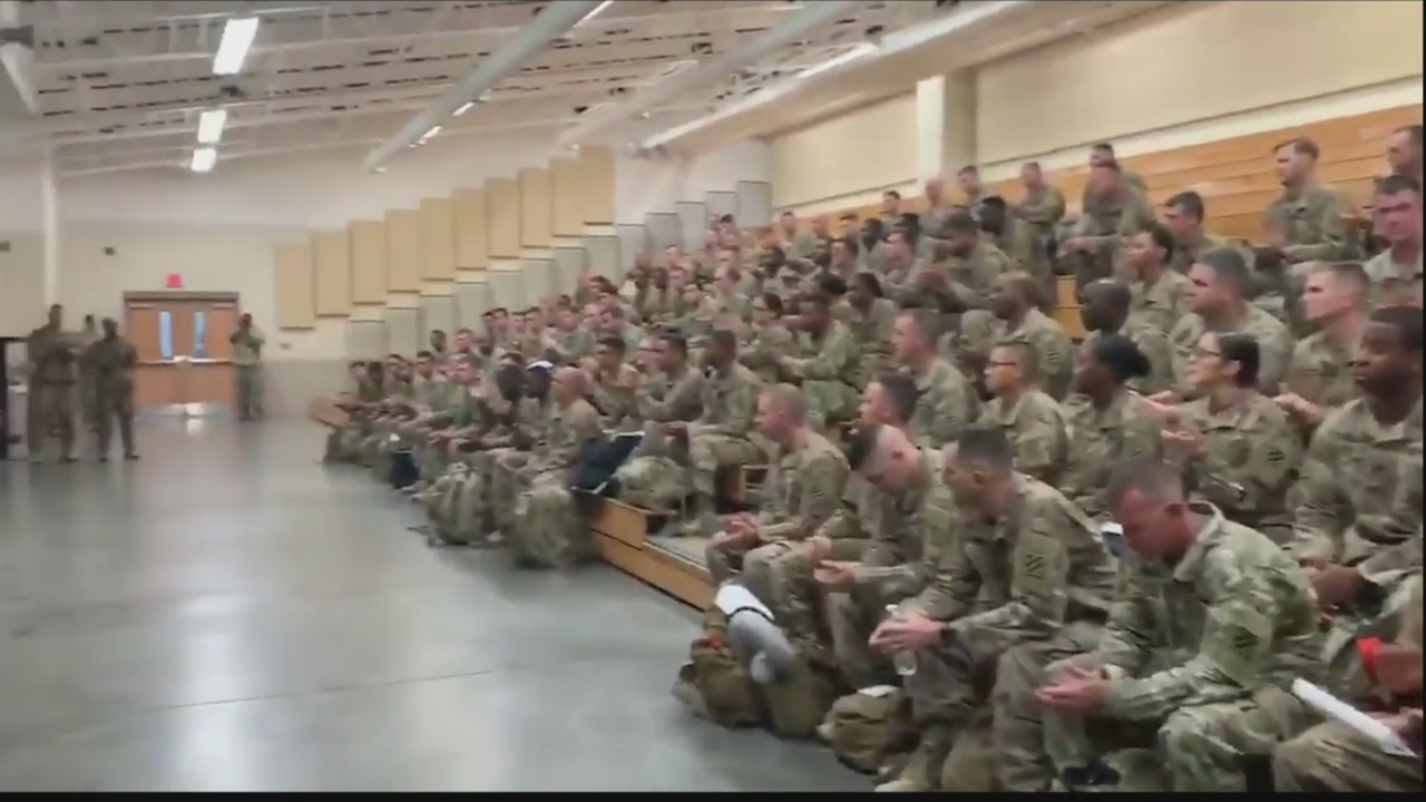 Gov. Kemp greets soldiers returning home at Hunter Army Airfield